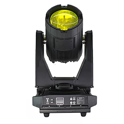 AWSAD Moving Head Light Rotating Light Stage Light DMX512 Control IP65 Waterproof Light Suitable for Club Performance Travel Fountain Wedding (Color : Black)