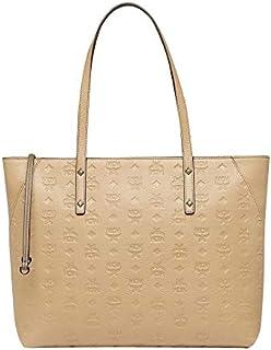MCM Women's Beige Leather Zip Tote Bag MWP7AKM51IE001 (Medium)