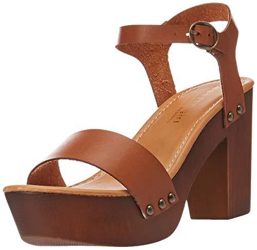 Madden Girl Women's LIFFT Heeled Sandal, Cognac Paris, 8