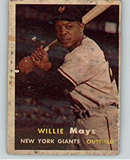 1957 Topps #10 Willie Mays Giants FR-GD Stain 368760 Kit Young Cards