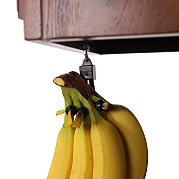 Banana Bungee Hanger Practical Stand and Rack Alternative Under Cabinet Hook Holds Single or Bunch Made in USA