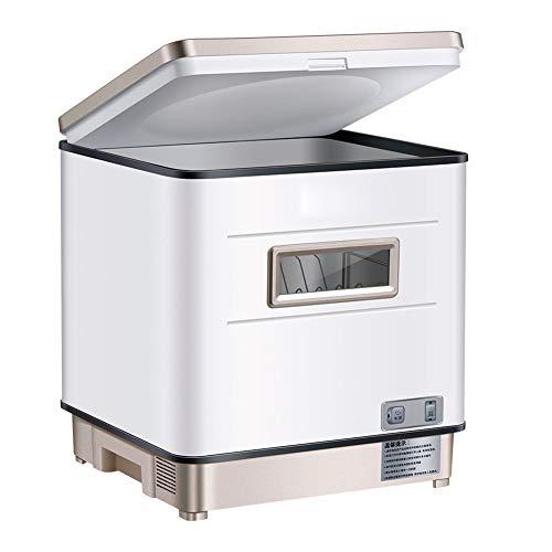 Table Top Geschirrspülmaschine Freistehendes 3 in 1 UV Sterilisieren Waschen Trocknen Aufsatz- Geschirrspüler Waschmaschine Rotary Spray 360 ° Azimuth Schnell, Geschirr, Obst Gemüse Reinigung,Silber