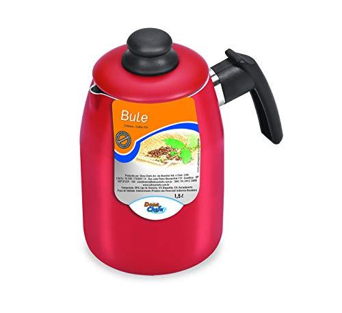 Bule Vermelho 1 Litro Dona Chefa Preto Medio