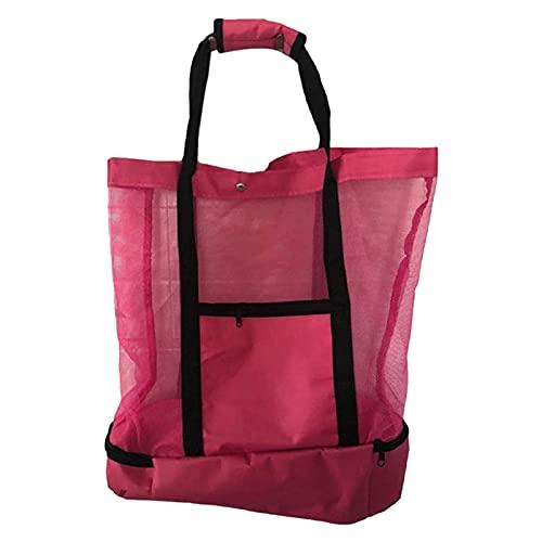 Mengdie Bolsa de picnic para mujer, compartimento de refrigerador, gran tamaño, cremallera cerrada, playa, bolsa