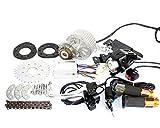 L-faster Rapide Le Plus récent kit de Moteur E-Bike de 450 W Kit de Conversion électrique à vélo à Vitesse Multiple Kit de Moteur électrique pour vélo à Plusieurs Vitesses (36V Twist Kit)