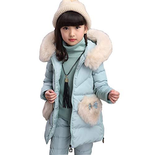 DorkasDE Mädchen Bekleidungsset Schneeanzug Dreiteiliger Anzug Winterweste + Hose + Bluse