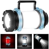 EXTSUD Lámpara Camping Recargable USB Linterna Camping Resistente al Agua 4400mAh Powerbank para Acampar, Camping, Pesca Nocturna, Caza