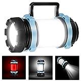 Homealexa 1000 Lumens Lanterne LED Rechargeable, Ultra Puissante, 4000mAh Batterie, Lampe de Camping 4 Modes, Câble USB Inclus, IPX4 Étanche, Spot Pour la Pêche de Nuit, Chasse, Randonnée
