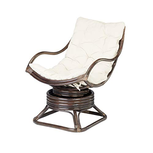 Rotin Design Rebajas : -31% Mecedora Ratan Valentino de Bambu Marron Moderna y Barata