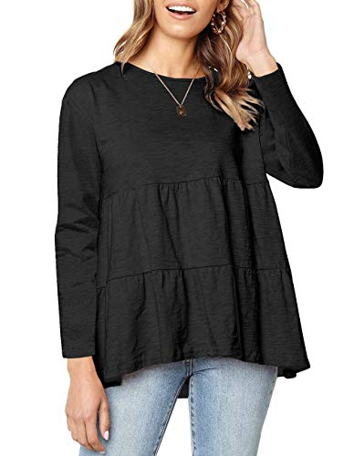 Defal Women's Long Sleeve Loose T Shirt High Low...