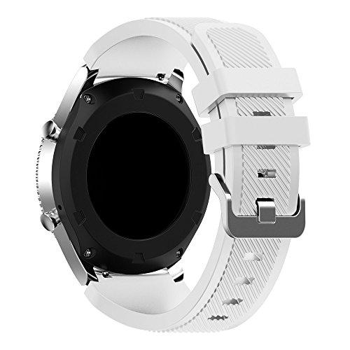 Pinhen - Cinturino di ricambio per Samsung Gear S3 Frontier/S3 Classic, in morbido silicone, sportivo
