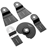 A <span class='highlight'>Selected</span> 5 Pcs Oscillating Multitool Blades for Fein Multimaster Bosch Black and Decker Chicago Craftsman Bolt-on Makita