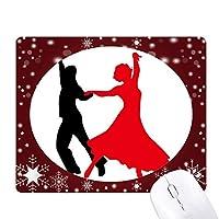 デュエット・ダンス・社交ダンスのダンサー オフィス用雪ゴムマウスパッド