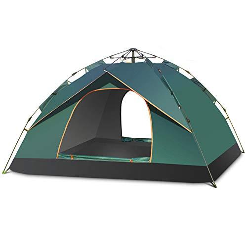 HBOY Tienda de campaña plegable para playa de 3 a 4 personas, impermeable, resistente al viento y protector solar para acampar al aire libre o viajes