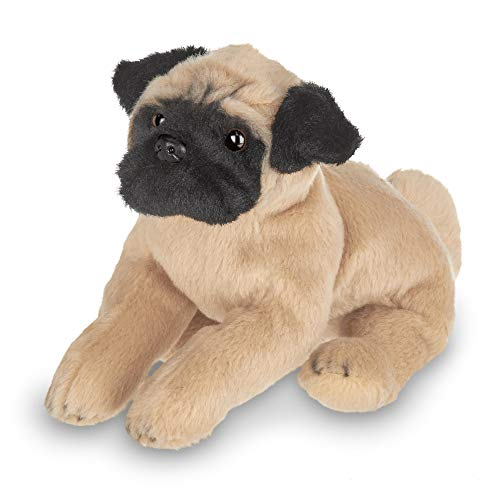 Bearington Lil' Pugsly Small Plush Pug Stuffed Animal Puppy Dog, 6 inch