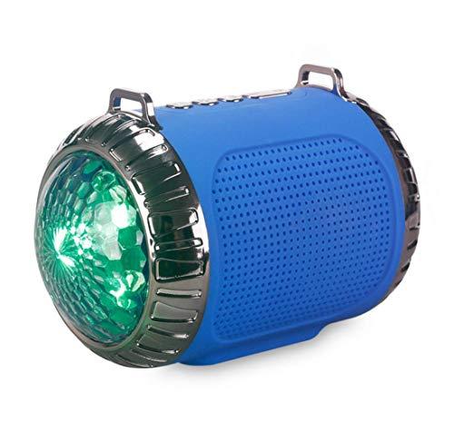 Draadloze Bluetooth Speaker met Stage Light, ingebouwde microfoon voor handsfree communicatie, ondersteuning TF-kaart en U schijf voor Partij van het Huis Cafe Bar Compatibel,Blue