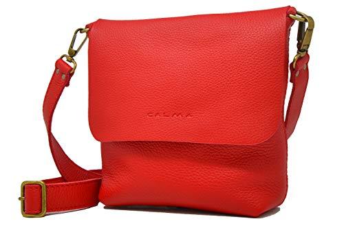 CP CALMA PROJECT - Crossbody Bag UN   Bolso Bandolera Mujer, Bolso Piel 100% Artesanal con Bolsillo Trasero y Correa Ajustable