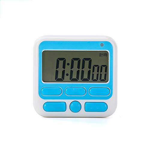 SDC LCD-Bildschirm digitaler Küchenuhr, großes Display Digital Timer 2 IN 1 Timer und Uhr mit Magneten Klebe-Halterung, for Fitness-Studio, Treffen, Lebensmittel Kochen, Spa, Ein großer Alarm