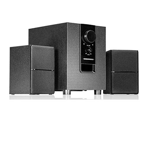 LIQIANG Computer Speaker, USB Subwoofer Music Player,360 Degrees Stereophonic Sound,Handmade Wooden Box,High Sensitivity, for Desktop Laptop Phone, Black Bluetooth Version