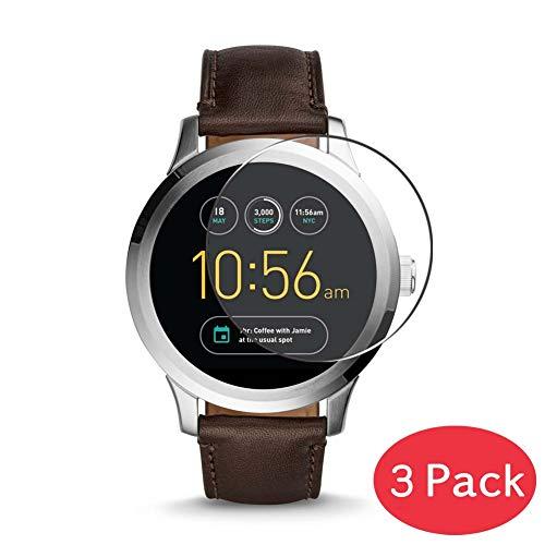 Vaxson 3 Stück 9H Panzerglasfolie kompatibel mit Fossil Q Founder Gen 2 (2016) Panzerglas Schutzfolie Displayschutzfolie Bildschirmschutz Intelligente Uhr Armband Smartwatch