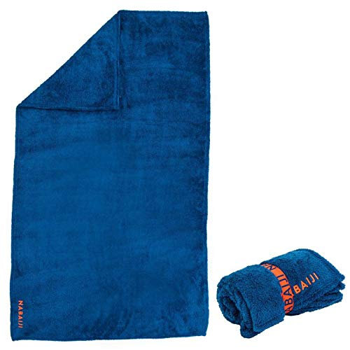 Nabaiji Mikrofaser-Badetuch weich Größe L 130 x 80 cm Blau