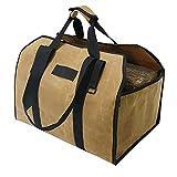 ZJJ Faltbare große Brennholz-Trägerbeutel im Freien wasserdichte Tasche mit Griff dauerhafter Protokoll Lagerkorb für Kamin Holzherd-Zubehör
