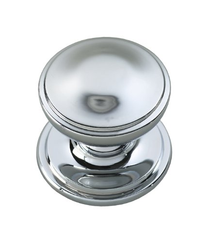 House of Brass Solid Heavy Cast Polished Chrome Victorian Centre Door Knob (Fixed Knob)