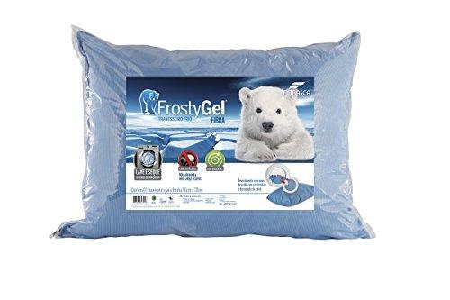 Travesseiro Frostygel, Fibra Enchimento, 50x70 cm, Azul, Fibrasca