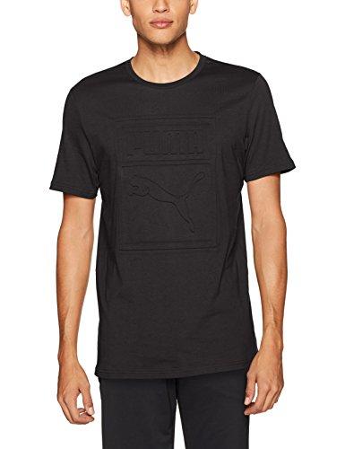 PUMA Men's Archive Embossed Logo T-Shirt, Black, X-Large