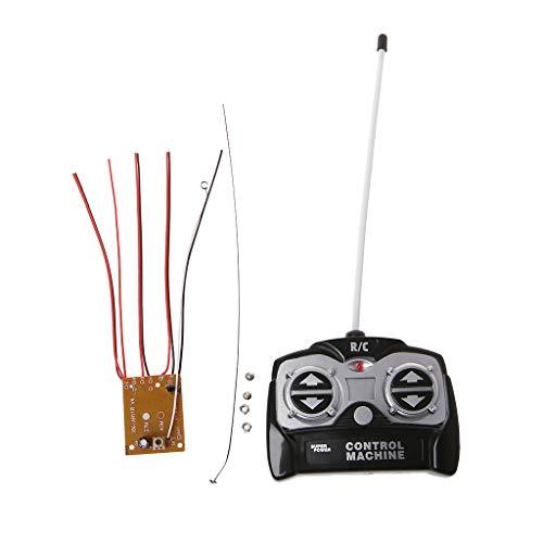 BELTI Placa receptora de Unidad de Control Remoto de 5CH 27Mhz + Control Remoto para Sistema de Radio de Juguete de Coche Tanque para Motor 130 6V 5V
