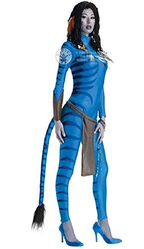 Fancy Me Damen Sexy Neytiri Avatar Ganzanzug Overall Film Kostüm Kleid Outfit UK 6-18 - Blau, Blau, 8-10