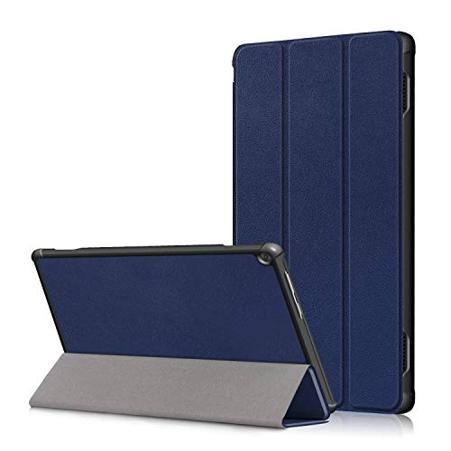 Lenovo M10 FHD Rel 10.1' Cover, Heavy Duty PU Leather Case with Auto Wake Up/Sleep Shell Multi-Angle Viewing Stand Bumper for Lenovo M10 FHD Rel TB-X605FC/TB-X605LC 10.1 Inch Tablet PC (deep blue)
