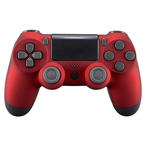 eXtremeRate PS4 Controller Gehäuse Schutzhülle Obere Hülle Case Cover Oberschale Skin Soft Touch Schale Shell für Playstation 4 PS4 Controller JDM-040 JDM-050 JDM-055(Rot)