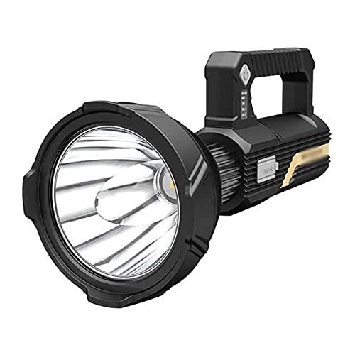 ELXSZJ XTZJ Al Aire Libre Potentes Linternas Grandes Recargables 6000 Lumens Super Bright LED Spotlight Handheld Portable Torch Light 12000mAh 50W