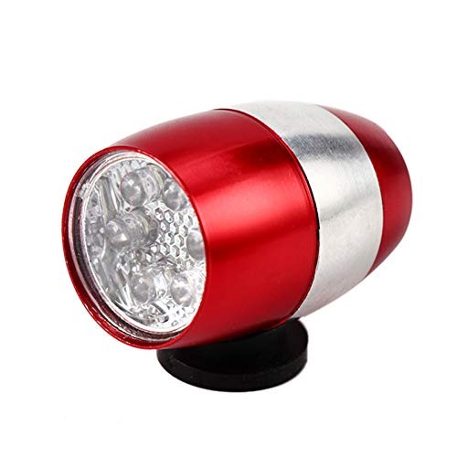 RYHTJN Tête De Vélo Lumières 6 LED en Alliage D'aluminium Avant Lumière Mountain Bike Équipements en Plein Air Vélo Arrière Lampe Accessoires, Rouge