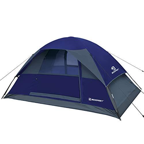 Bessport Camping Zelt 2 Personen, Ultraleicht Zelt mit Doppeltüren 3-4 Jahreszeiten Wasserdicht Rucksack Kuppelzelt für Camping,Trekking, Outdoor, Reisen