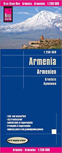 Reise Know-How Landkarte Armenien / Armenia (1:250.000): reiß- und wasserfest (world mapping project)