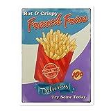 DGBELL Hot & Crispy French Fries Blechschild Wandkunst