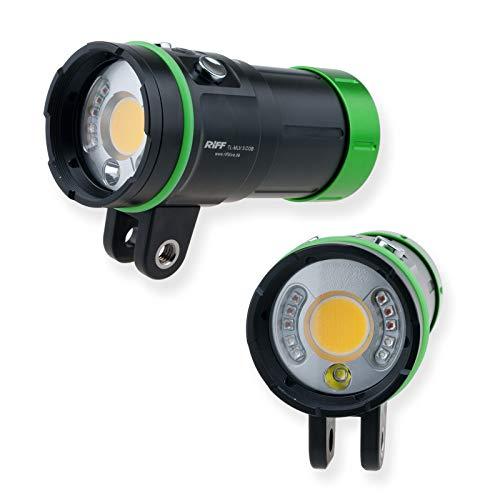 Riff MLV 3 COB Videolampe mit Spot Rot...