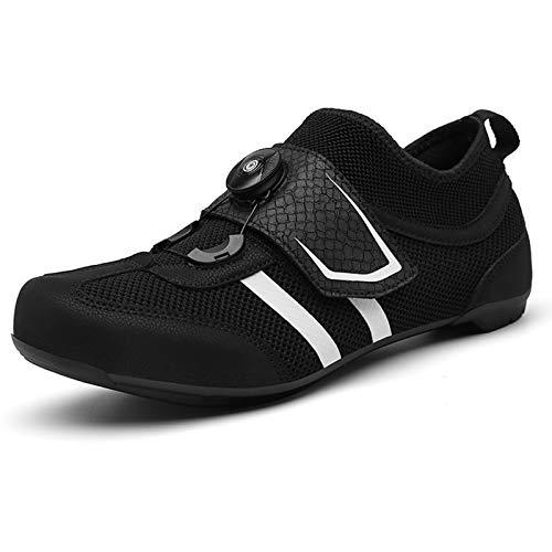 Zapatillas De Ciclismo para Hombre Y Mujer con Sistema Cuerda Trinquete, Zapatos...