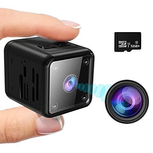 Mini Kamera, HD 1080P Überwachungskamera mit Bewegungserkennung IR-Nachtsicht Nanny Sicherheitskamera Lange Batterielaufzeit Videoanrufkamera für Innen Aussen