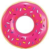 Intex 56256NP - Rueda hinchable INTEX, flotador donut, de fresa, Ø99x25 cm, donut hinchable piscina, hinchable playa, flotador redondo, hinchables INTEX, flotador adulto