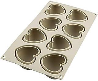 Silikomart 8051085257676 3D Mold Cuoricino Cake Pan, Gray