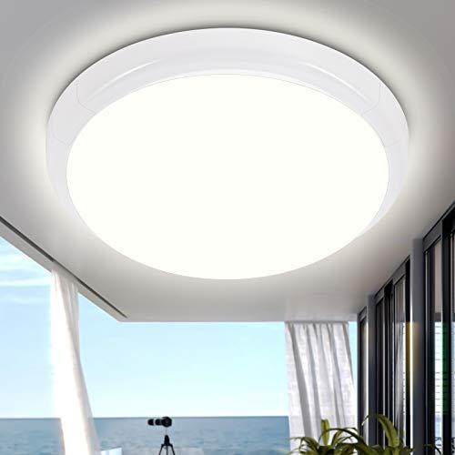 LED Deckenleuchte Bad IP44, Oraymin 15W 1500LM LED Deckenlampe Rund 4000K Flimmerfreie Bürodeckenleuchte, 160 ° Abstrahlwinkel, Badleuchten, Schlafzimmerleuchten, Balkonleuchten, Küchenleuchten, ø25CM