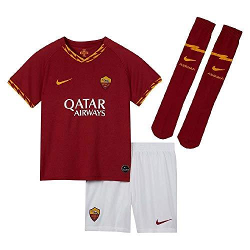 Nike A.S Roma 2019/20 Home Divisa da Calcio, Unisex Bimbi, Team Crimson/(University Gold) (Full Sponsor), S