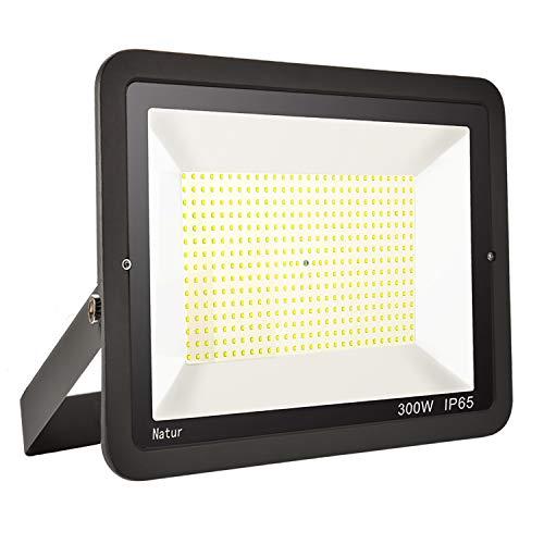 300W LED Strahler Außen Superhell LED Fluter 3000k LED Scheiwerfer IP65 Wasserdicht LED Flutlicht Außenstrahler Außenleuchte für Werkstatt Garage Garten (Warmes Weiß, 300W)