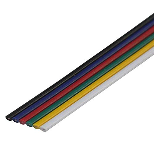RGBW+WW CCT Verlängerung Kabel Leitung 5m ; Verlängerungskabel 6-adrig