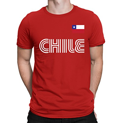 SpiritForged Apparel Chile Soccer Jersey Men's T-Shirt, Red XL