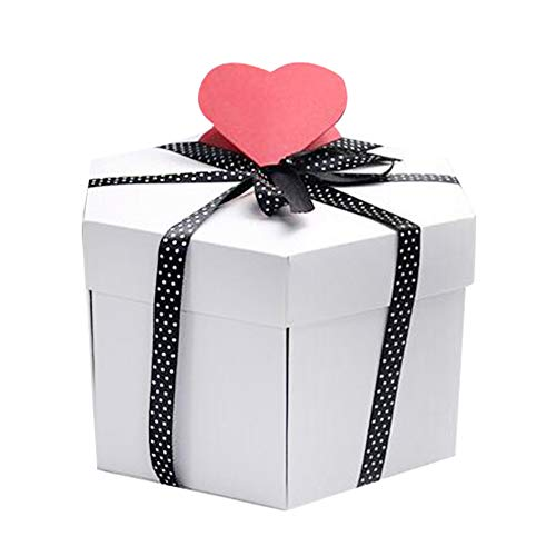 SEHNL DIY Sorpres Surprision Box Regalo Explosión Explosión Scrapbook Photo Hexagon Album para Aniversario DIY Album Foto de San Valentín Regalo de Boda Creative Scrapbook (Color : A1)