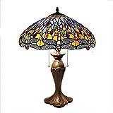 Lámpara de mesa de base antigua, aleación de zinc, lámpara de mesita de noche, lámpara de mesa con cadena, diseño creativo, iluminación decorativa, e